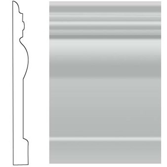 "Roppe Visuelle Rubber Wall Base: Light Gray 195- 4 1/2"" x 120' Roll"