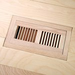 "LW Mountain Pre-Finished Exotic Walnut: Natural Flush Mount 4"" x 10"" Vent"