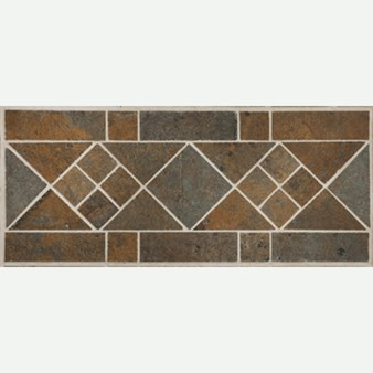 "Mannington Accent Gallery: Iron Gate Border 5"" x 12"" Porcelain Tile AQ0B"