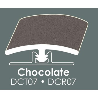 "Congoleum Duraceramic T-Mold: Chocolate - 94"" Long"