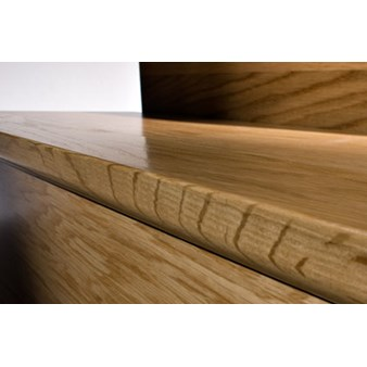 "Kahrs Linnea Country Collection: Flush Stair Nose American Cherry Natural - 78"" Long"