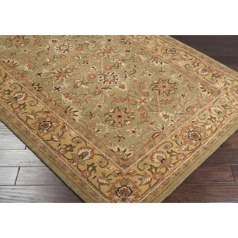 "Surya Crowne Caper Green (CRN-6001) Rectangle 4'0"" x 6'0"""