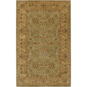 "Surya Crowne Caper Green (CRN-6001) Rectangle 5'0"" x 8'0"""