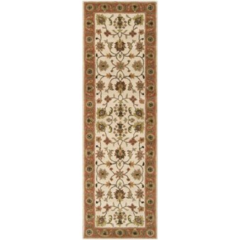 "Surya Crowne Parchment (CRN-6004) Rectangle 2'6"" x 8'0"""