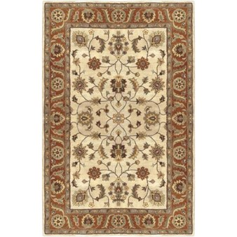 "Surya Crowne Parchment (CRN-6004) Rectangle 5'0"" x 8'0"""