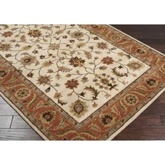 "Surya Crowne Parchment (CRN-6004) Rectangle 6'0"" x 9'0"""