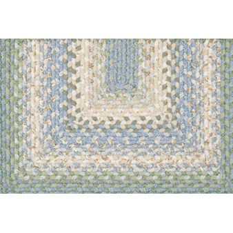 "Surya Country Living Cottage Braids Aloe Vera (CTG-4500) Oval 2'6"" x 9'0"""