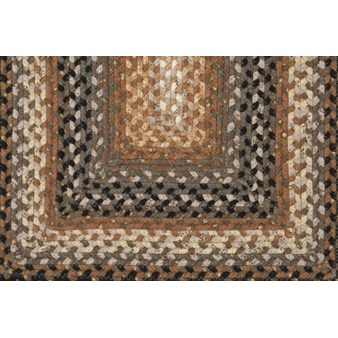 "Surya Country Living Cottage Braids Coal Black (CTG-4503) Rectangle 1'8"" x 2'6"""