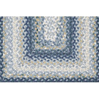 "Surya Country Living Cottage Braids Midnight Blue (CTG-4508) Oval 3'0"" x 5'0"""