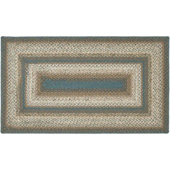 "Surya Country Living Cottage Braids Peacock Green (CTG-4509) Rectangle 4'0"" x 6'0"""