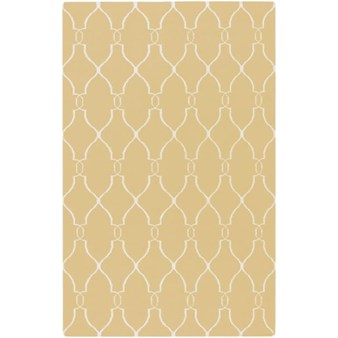 "Surya Jill Rosenwald Fallon Gold (FAL-1001) Rectangle 5'0"" x 8'0"""