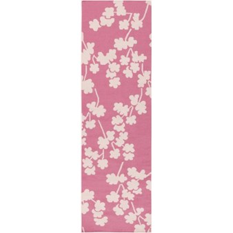 "Surya Jill Rosenwald Fallon Bright Pink (FAL-1064) Rectangle 2'6"" x 8'0"""