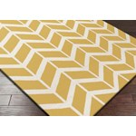 "Surya Jill Rosenwald Fallon Golden Yellow (FAL-1092) Rectangle 2'0"" x 3'0"""
