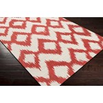 "Surya Frontier Poppy Red (FT-173) Square 0'6"" x 0'6"""