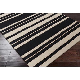 "Surya Frontier Coal Black (FT-439) Square 1'6"" x 1'6"""