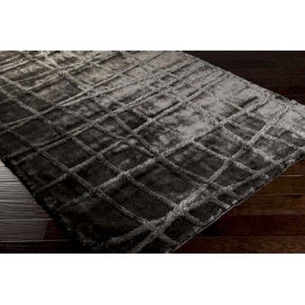 "Surya Graph Charcoal Gray (GRP-2001) Square 0'6"" x 0'6"""