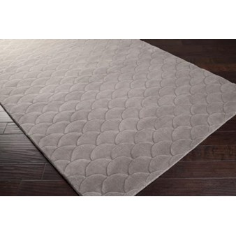 "Surya Kinetic Flint Gray (KNT-3000) Square 0'6"" x 0'6"""