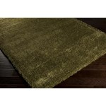 "Surya Luxury Shag Moss (LXY-1724) Rectangle 1'10"" x 2'11"""