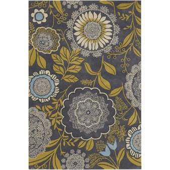 "Chandra Amy Butler (AMY13211-79106) 7'9""x10'6"" Rectangle Area Rug"