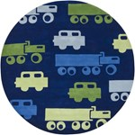 "Chandra Kids (KID7624-79RD) 7'9""x7'9"" Round Area Rug"