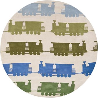 "Chandra Kids (KID7625-79RD) 7'9""x7'9"" Round Area Rug"