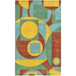 "Chandra Rain (RAI809-576) 5'0""x7'6"" Rectangle Area Rug"
