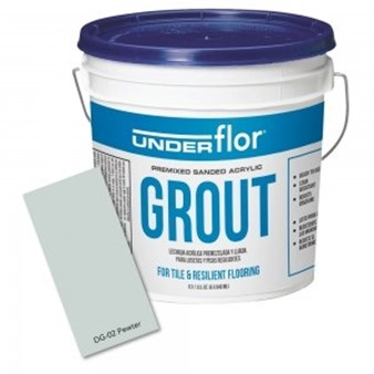 Congoleum Duraceramic Premixed Pewter Grout 1 gallon bucket DG-02