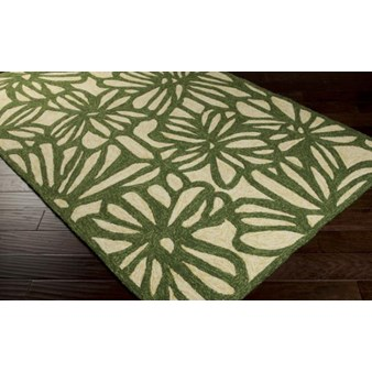 "Surya Storm Spruce Green (SOM-7735) Rectangle 8'0"" x 10'6"""