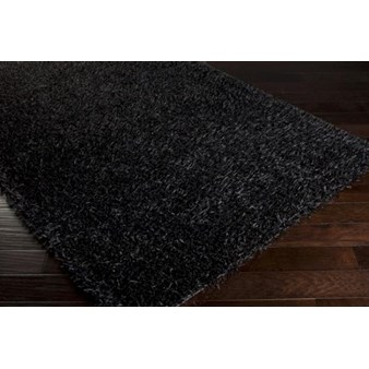 "Surya Vivid Jet Black (VIV-801) Rectangle 8'0"" x 10'0"""