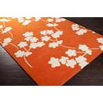 "Surya Jill Rosenwald Zuna Orange-Red (ZUN-1066) Rectangle 2'0"" x 3'0"""