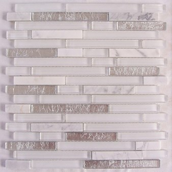 "Glass Tile & Stone Stone Brick Series Mosaic 12"" x 12"" : AL750"